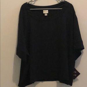 Black Ava & Viv boxy blouse